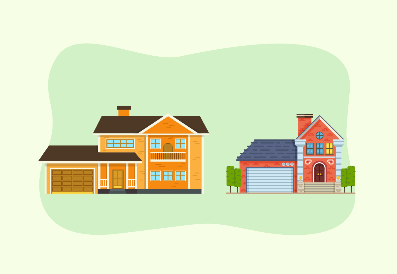 Different kinds of houses.