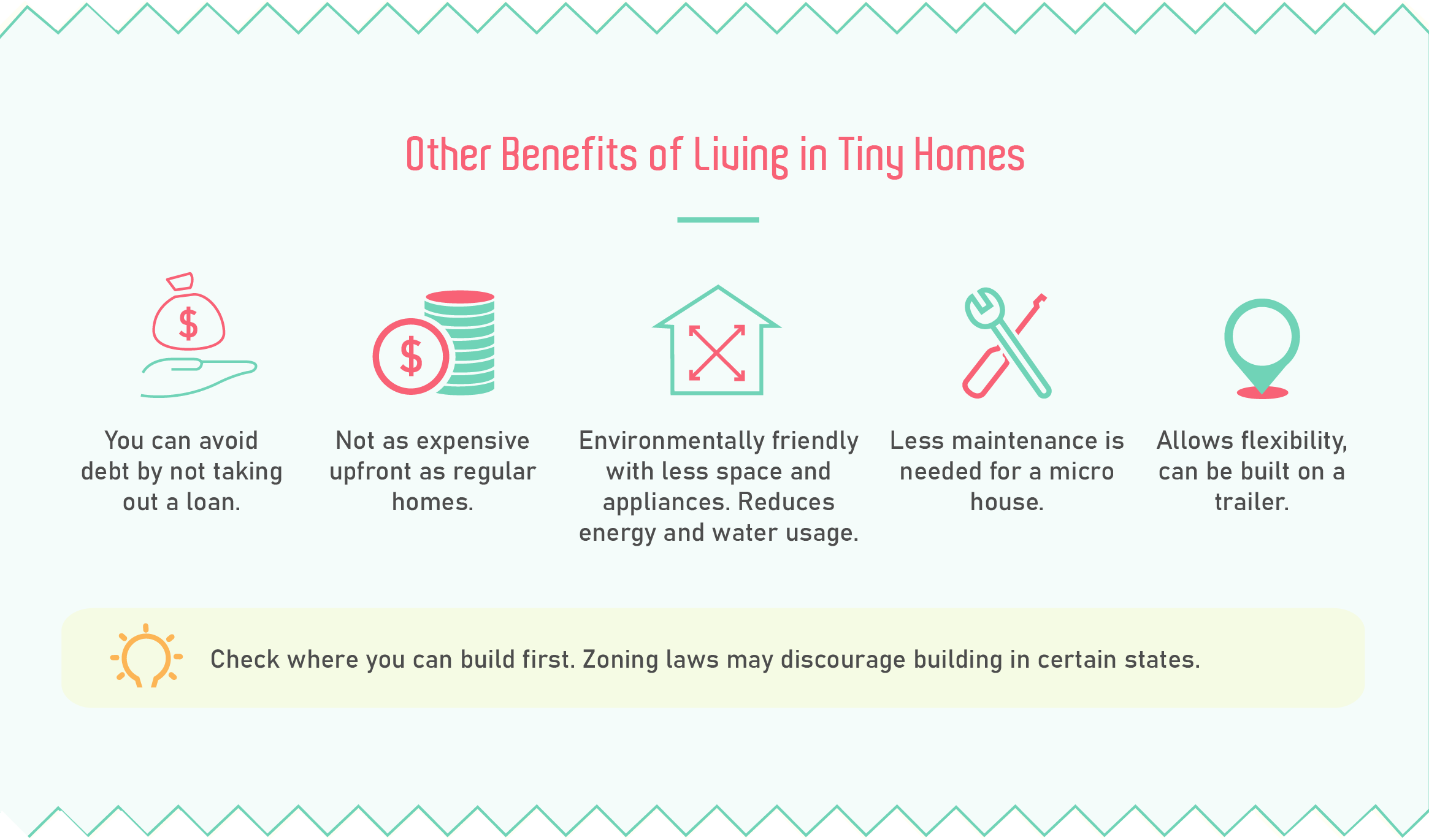 Other benefits of living in tiny homes