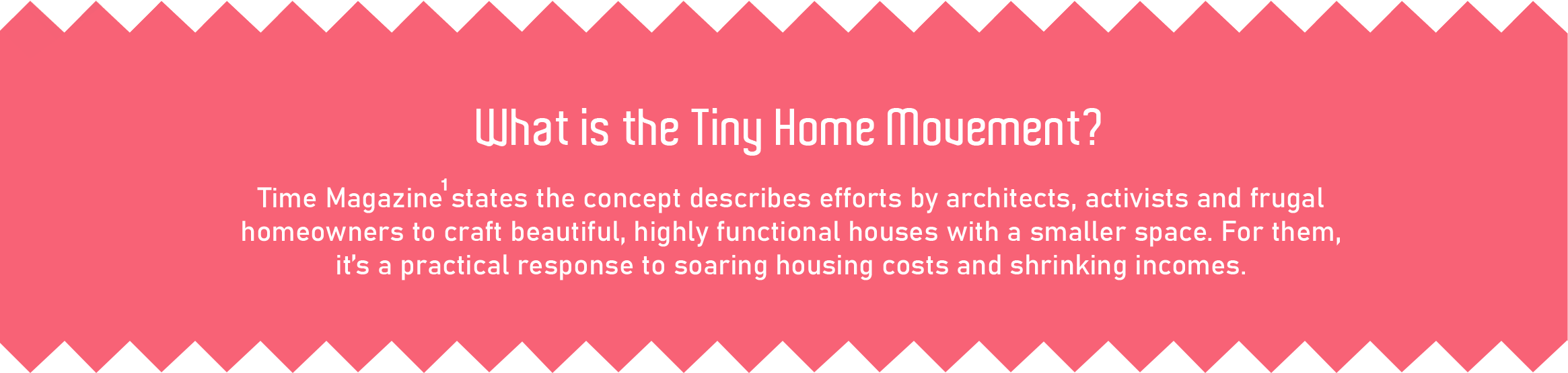 What is the tiny home movement?